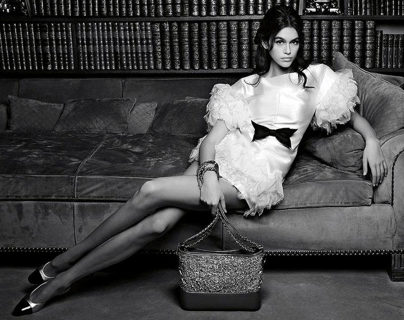 Kaia Gerber w kampanii torebek Chanel 2018