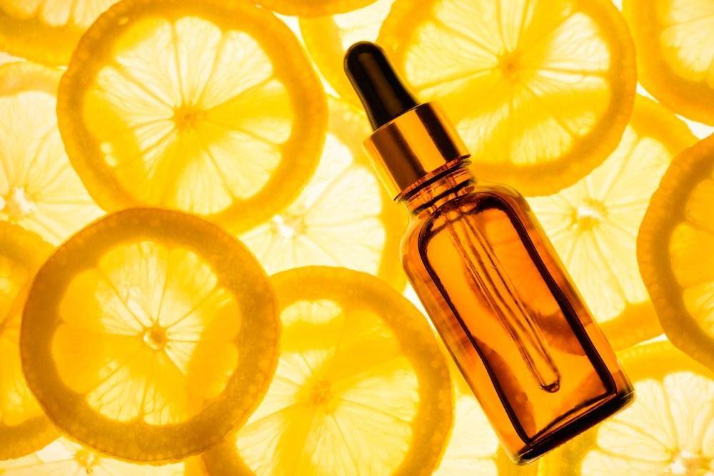 Citrus essential oil, vitamin c serum, beauty care aroma therapy.