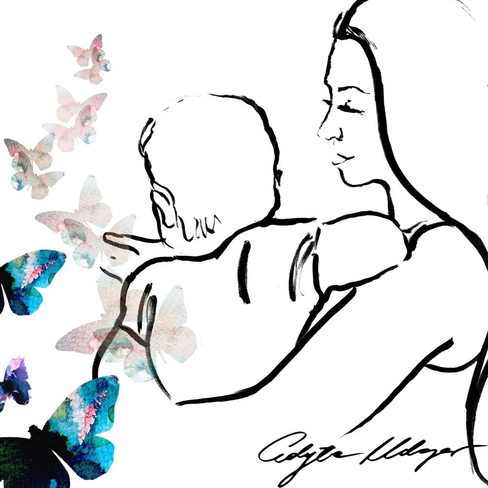 Agnieszka Wesolowska z córka Roza ilustracja wesowow 4