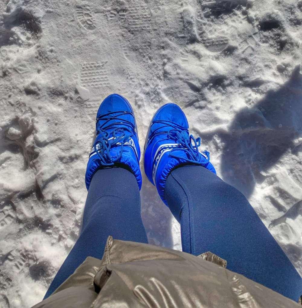 Moon Boot niebieskie wesowow 2