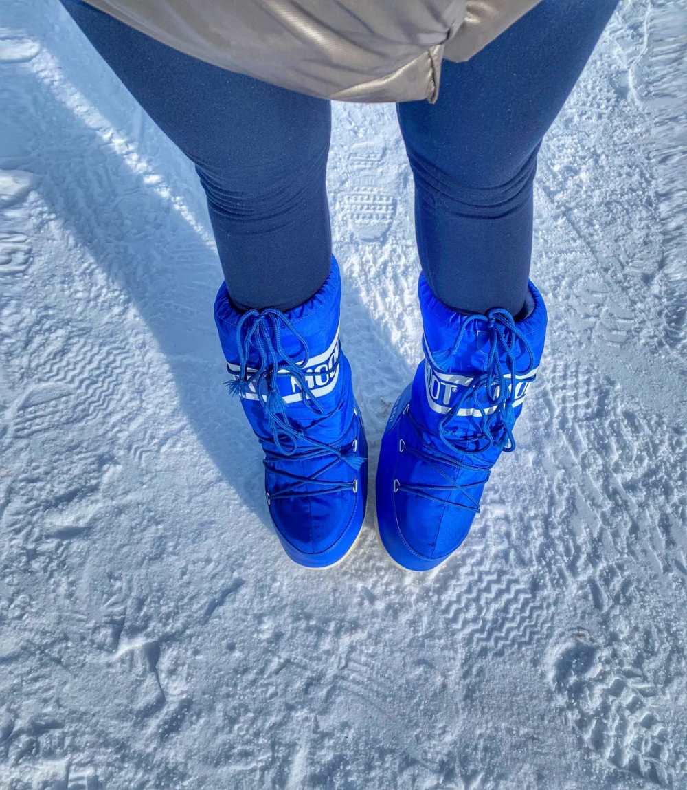 Moon Boot niebieskie Wesowow